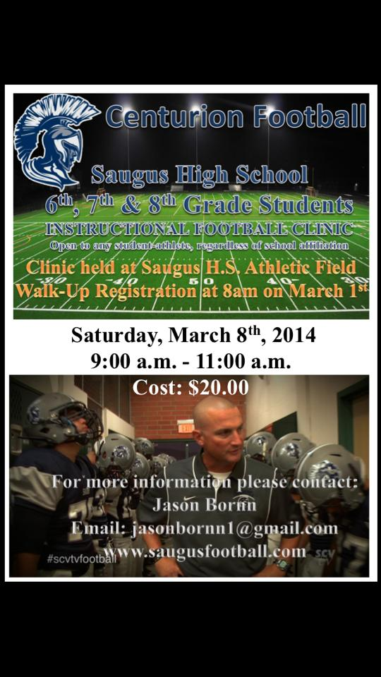 Instructional Football Clinic 2014