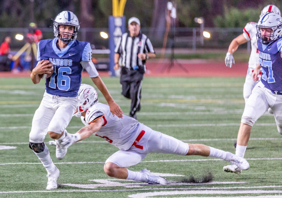 First-half struggles spell trouble for Saugus football against Redondo Union