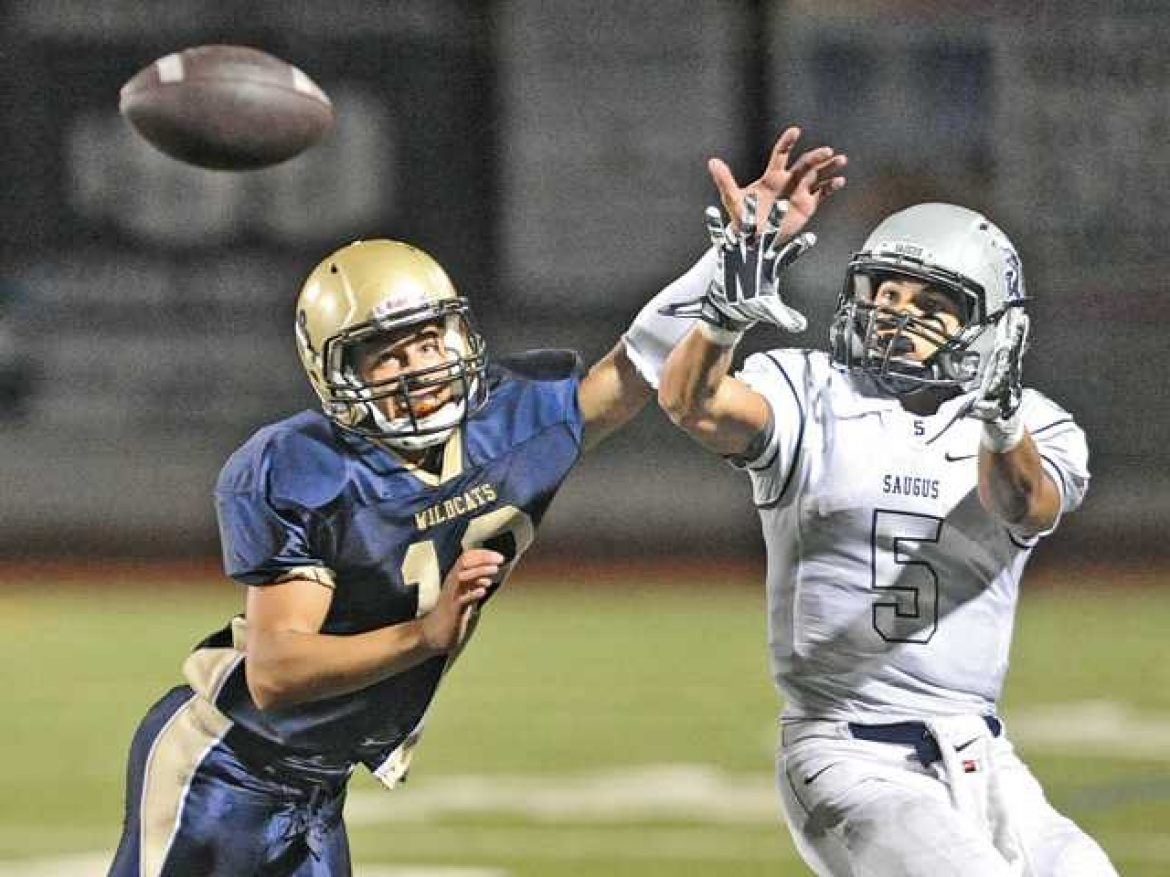 Back-and-forth game goes Saugus' way