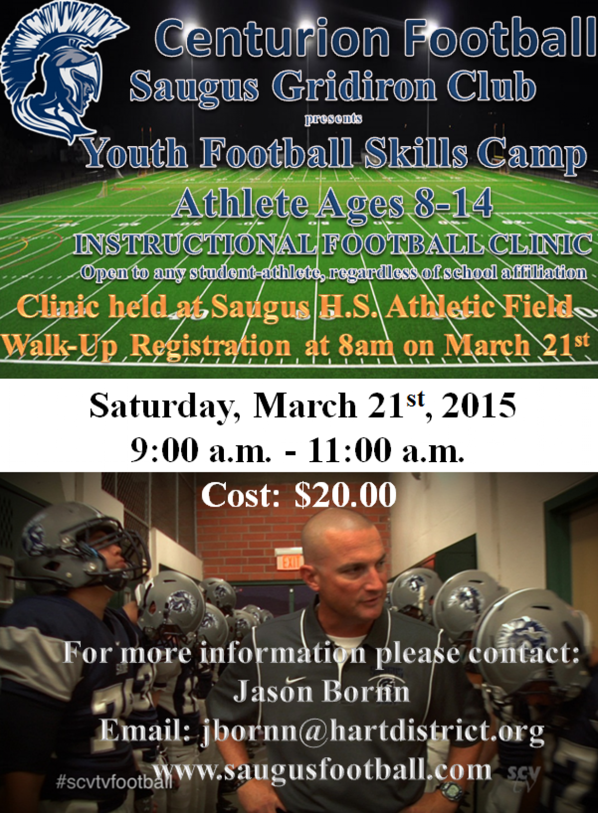 Instructional Football Clinic 2015