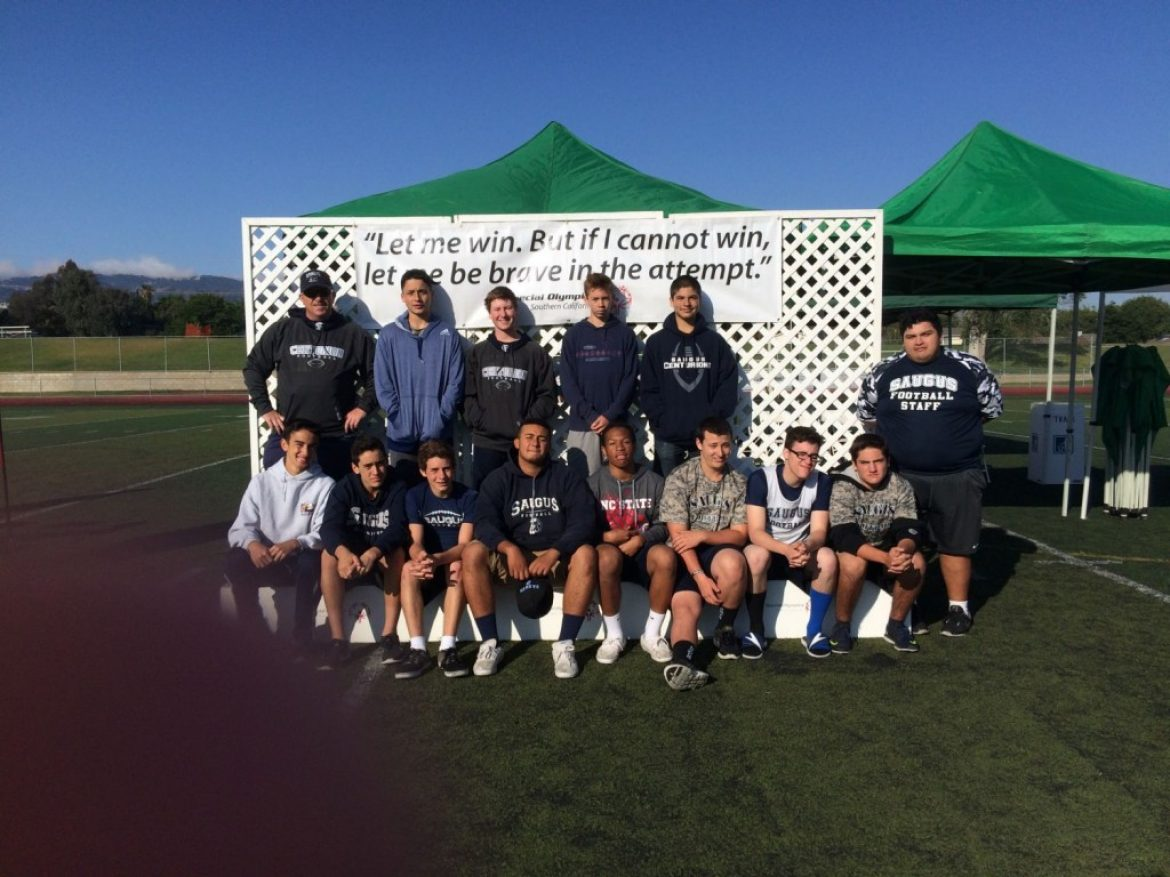 Saugus Football Volunteers @ Special Olympics!